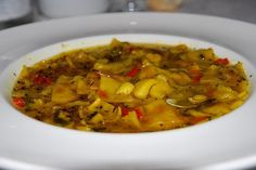 """Andrajos con bacalao, plato típico de la provincia de Jaén / """"Andrajos"""" with cod, a typical dish of the province of Jaén"""