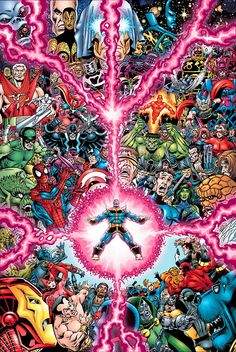 Marvel Universe by Jim Starlin - Marvel Comics - Comic Book Art Thanos Marvel, Marvel Dc Comics, Marvel Villains, Marvel Vs, Captain Marvel, Marvel Comic Character, Comic Book Characters, Comic Book Heroes, Marvel Characters