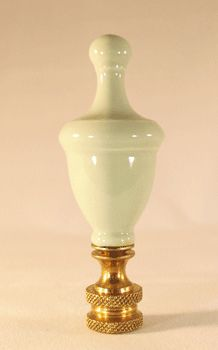 "Lamp Finials: Finial: Sage Green Knob. 3"" overall Finial: Sage Green Knob. 3"" overall  Code: 336  Price: $8.00  Shipping Weight: 4.00 ounces  1 available for immediate delivery"