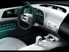 Concept car Saab 9-X Air, 2008, Futuristic Dashboard, Futuristic Car Interior, Future Car