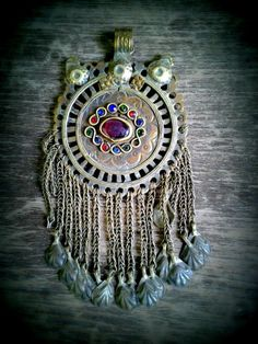 Metal Vintage Boho Jewelry Ornament with Glass Beads