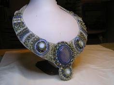 CatrinaJewels  beadembroidery neckpiece