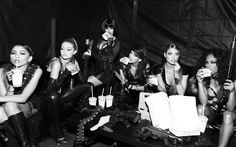 """taylorswift13: After we wrapped. #BadBloodMusicVideo"""