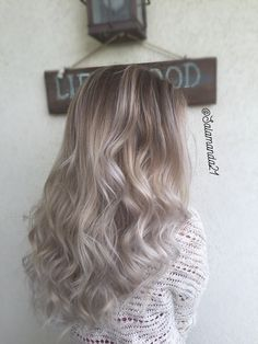 Icey white silver grey balayage done by Manda Heath  @salamanda21