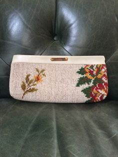 A personal favorite from my Etsy shop https://www.etsy.com/listing/252146292/vintage-needlepoint-clutch-floral-clutch