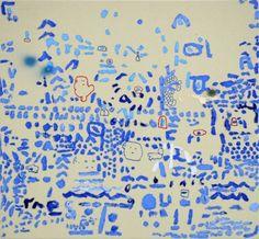 """Federico Herrero  """"Letras y Numeros""""  60 x 65 cm.  Óleo y mixta sobre tela.  2009"""