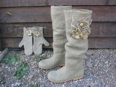 handmade Felted boots by woolicity on Etsy, $290.00