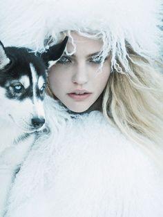 Sasha Pivovarova by Mikael Jansson for Vogue US September 2014