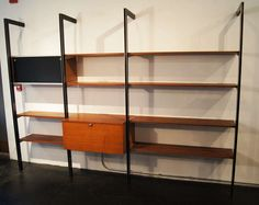 CSS Storage System by George Nelson for Herman Miller | From a unique collection of antique and modern shelves at http://www.1stdibs.com/furniture/storage-case-pieces/shelves/