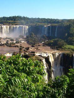 Wunderschöne #Iguazú-Wasserfälle, #Brasilien