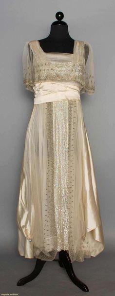 Sequined Net & Silk Evening Dress, C. 1914, Augusta Auctions, November 12, 2014