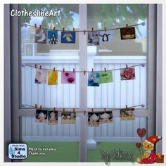 Sims 4 CC's - The Best: Clothesline Art by Oldbox