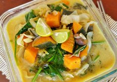 Thai pumpkin soup I was looking for ideas today, since tonight I start my work week again. What did I have in my fridge that would be e...