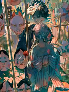Hanako and Yashiro from Toilet-bound Hanako-kun Anime Art Girl, Manga Art, Manga Anime, Aesthetic Anime, Anime Love, Art Reference, Character Art, Illustration Art, Images