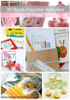 30 kids book activities