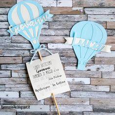 Una mongolfiera come invito #invitobattesimo #itommasini4ucreazioni #battesimo
