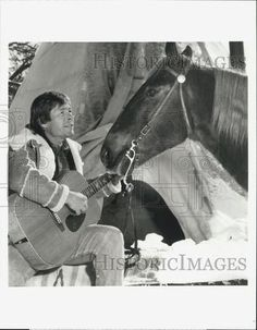 "1991 Press Photo of Singer John Denver Star in ""John Denver's Montana Christmas 