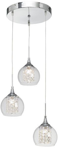 Glass & Crystal Spiral Pendant Chandelier ceiling lights Home