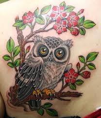 46 Best Owlcherry Blossom Tattoo Images Awesome Tattoos Cute