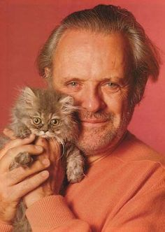 If you're having a bad day - here's Anthony Hopkins and a cat. I don't know if it makes you feel any better.