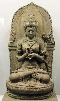 Bodhisattvadevi (female bodhisattva) Prajnaparamita  Buddhist goddess of transcendental wisdom, 13th century, East Java