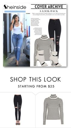 """""""sheinside"""" by crvenamalina ❤ liked on Polyvore featuring 7 For All Mankind, Topshop, Giuseppe Zanotti and Sheinside"""