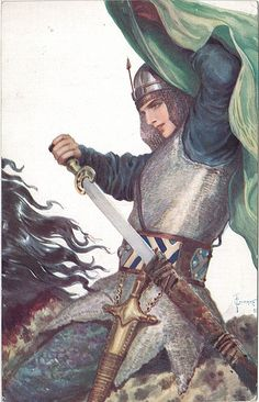 Sergey Solomko. Vintage Russian postcard - such a beautiful warrior!