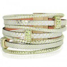 Trendy groene armband met magnetische sluiting