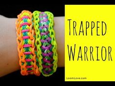 Rainbow Loom Trapped Warrior Bracelet design by Rainbow Fun Loom Australia, How to Use Your Rainbow Loom, Buy Blue Pink Purple Rainbow Bands for Trapped Warrior Design, Rainbow Loom Bracelet Designs by Rainbow Fun, Where to Buy Rainbow Loom Loom Love, Fun Loom, Rainbow Loom Tutorials, Rainbow Loom Patterns, Loom Band Bracelets, Rubber Band Bracelet, Rainbow Loom Bands, Rainbow Loom Bracelets, Loom Bands Instructions
