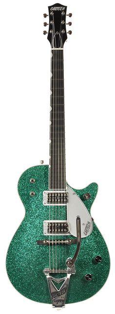 GRETSCH G6129TG Sparkle Jet Green Sparkle W/Bigsby | Chicago Music Exchange