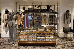 "HACKETT London UK,""Bespoke joinery is complemented with antique pieces and mid-century furniture"", pinned by Ton van der Veer"