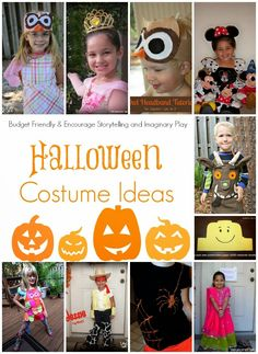Halloween Custome Ideas that are Easy and budget friendly. .