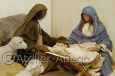 Church figures 70s ORIGINAL :: Biblical Figures Store