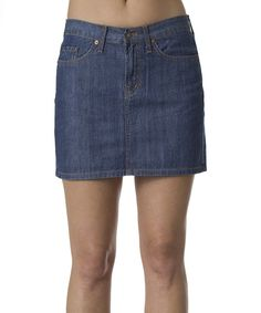 Look at this Red Engine Medium Delta 88 Denim Skirt - Women on #zulily today!