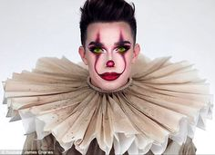 Image result for james charles pennywise makeup