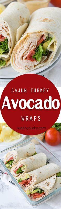 Cajun Turkey Avocado Wraps