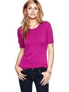 Solid half-sleeve sweater | Gap - thinking about winter work wear