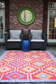 Amazon.com: Fab Habitat 4-Feet by 6-Feet Lhasa Indoor/Outdoor Rug, Orange and Violet: Patio, Lawn & Garden