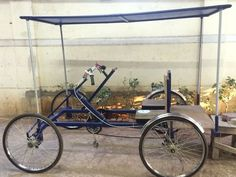 Build a TWO Person FOUR Wheeled Pedal Bicycle Car Project Homesteading - The Homestead Survival . Vossen Wheels, Quad Bike, Pedal Cars, Homestead Survival, Go Kart, Good Grips, Cool Stuff, Diy Stuff, Building