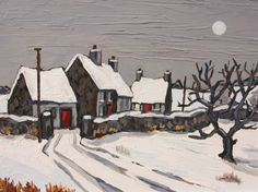 Moonlight near Rhuddlan by British Contemporary Artist David Barnes
