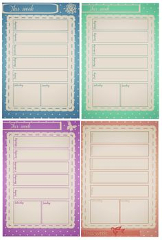 Free-download Weekly Journal Calendars