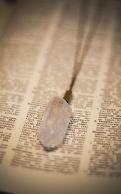american threads - Crystal Rock Necklace, $32.00 (http://www.shopamericanthreads.com/crystal-rock-necklace/)