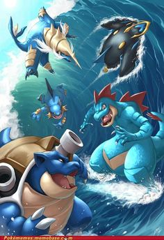 Water type starters final evolution.