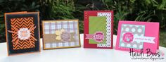Stuck on Stampin': (set of cards using the stamp set Tags 4 You)