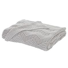 Bianca Cotton Soft Soft Knit 100% Cotton Throw, Grey, 127 x 152 Cm