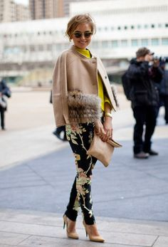 How to go from WInter to spring. Mix those nice flowers pants ( H new s 13 season with your favorita winter coat