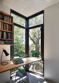 workspace furniture office interior corner office desk. Delighful Desk Black Line One Architecture Studio Has Designed This Timber Garden Pavilion  In Melbourne A Of Olive Trees Throughout Workspace Furniture Office Interior Corner Desk