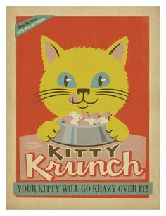 Kitty Krunch Kunstdruck