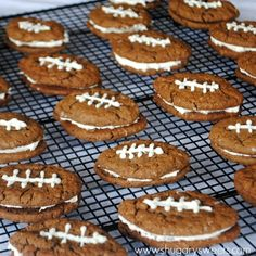 Chocolate Oatmeal Cream Pie Footballs | 23 Cute Football Snacks For Your Super Bowl Party