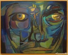 """""""Rostro azul"""", Raúl Elas Reyes, 1990. MARTE Museo de Arte de El Salvador by CAMARO27, via Flickr"""